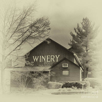 Winetasting Photograph - Winery In Sepia by Tom Gari Gallery-Three-Photography