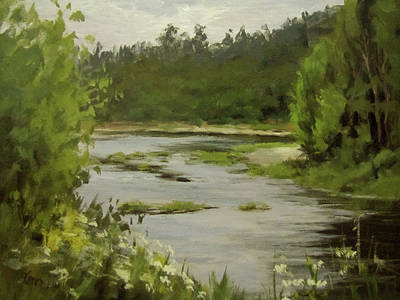 Painting - Winery River by Karen Ilari
