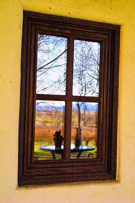 Photograph - Winery Window by Gary Brandes