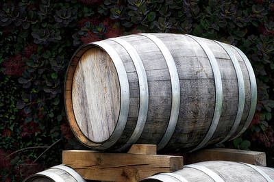 Ale Mixed Media - Winery Wine Barrel by Thomas Woolworth