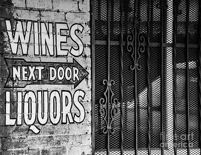 Photograph - Wines Liquors Next Door by John Greco