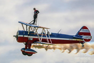 Photograph - Wing Walker And Pilot by Tom Claud