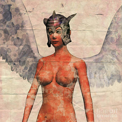 Panties Digital Art - Winged Avenger Mark 2, Pop Art By Mary Bassett by Mary Bassett