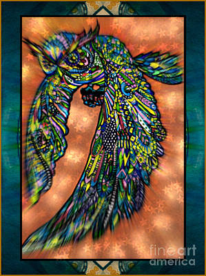 Mixed Media - Winged Beauty In Flight by Wbk
