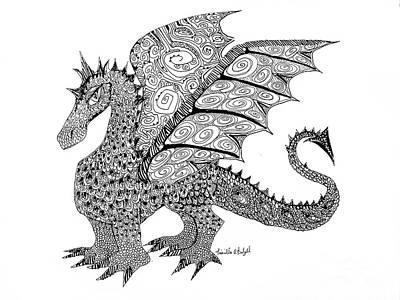 Drawing - Winged Flirt Eye by Expressionistart studio Priscilla Batzell