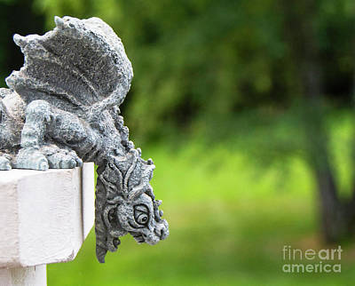 Photograph - Winged Gargoyle by Kathy Kelly