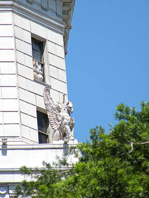 Photograph - Winged Gargoyles On Guard Color by Hold Still Photography