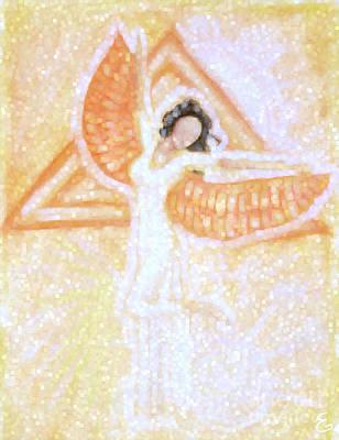 Egyptian Goddess Isis Digital Art - Winged Goddess by Cassandra Geernaert