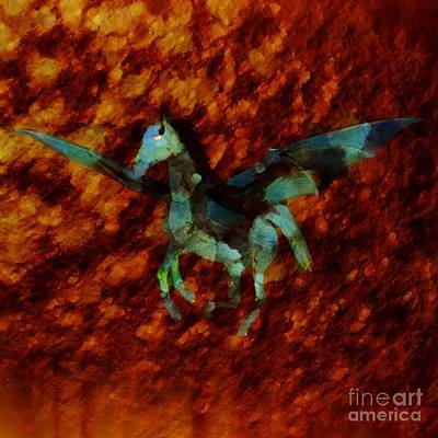 Egypt Digital Art - Winged Horse By Sarah Kirk by Sarah Kirk