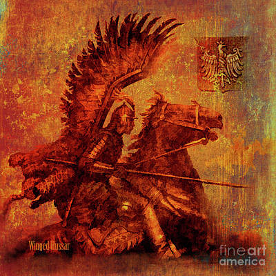 Digital Art - Winged Hussar 2016 by Kathryn Strick