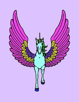 Little Round Top Digital Art - Winged Unicorn by Stephanie Brock