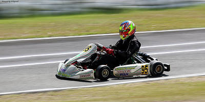 Go Kart Wall Art - Photograph - Wingham Go Karts 01 by Kevin Chippindall