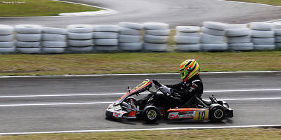 Photograph - Wingham Go Karts 02 by Kevin Chippindall