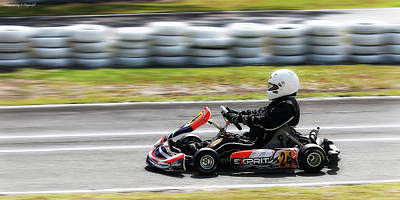 Photograph - Wingham Go Karts 03 by Kevin Chippindall
