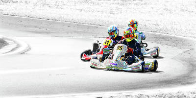 Photograph - Wingham Go Karts 04 by Kevin Chippindall