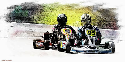 Photograph - Wingham Go Karts 05 by Kevin Chippindall