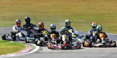 Photograph - Wingham Go Karts 06 by Kevin Chippindall