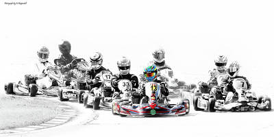 Photograph - Wingham Go Karts 07 by Kevin Chippindall