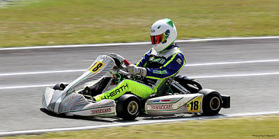Photograph - Wingham Go Karts 08 by Kevin Chippindall