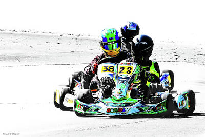 Photograph - Wingham Go Karts 09 by Kevin Chippindall