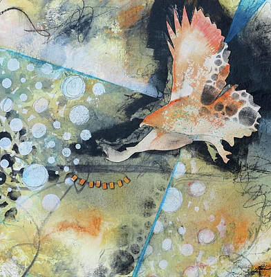 Hawk Mixed Media - Wings And A Prayer by Laura Lein-Svencner