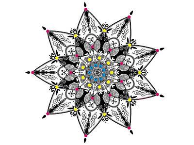 Mandala Digital Art - Wings And Antennas - Mandala by Ester Memoli