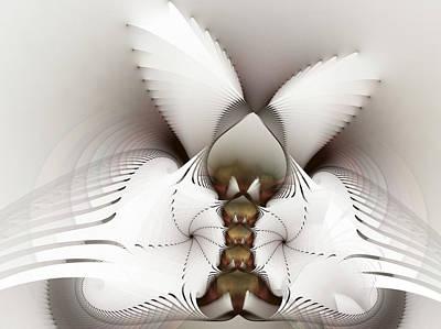 Fractal Geometry Digital Art - Wings In Motion by Amorina Ashton