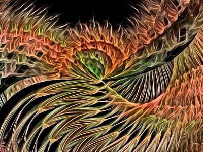 Digital Art - Wings Of A Firebird by Rhonda Barrett