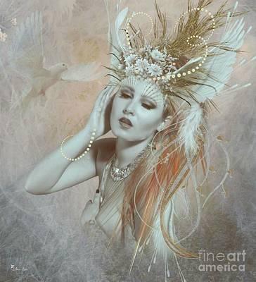 Digital Art - Wings Of A  Dove by Ali Oppy