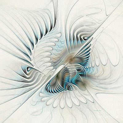 Generative Painting - Wings Of An Angel by Deborah Benoit