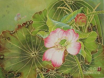 Lotus Bud Painting - Wings Of Gold by Shay Wahl