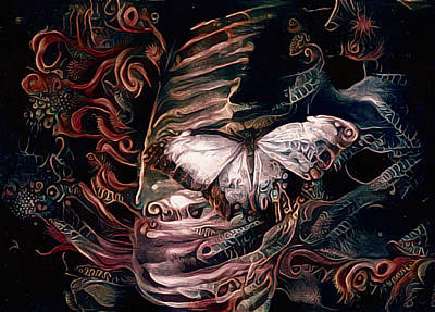 Mixed Media - Wings Of The Night by Susan Maxwell Schmidt