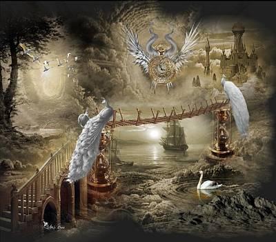 Digital Art - Wings Of Time by Ali Oppy