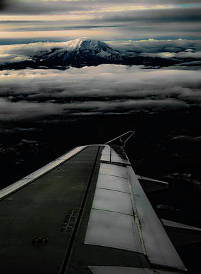 Art Print featuring the photograph Wings Over Rainier by Jeffrey Jensen
