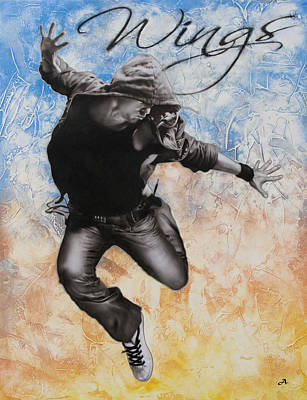 Hiphop Painting - Wings by Peter Ambush