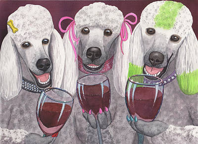 Painting - Wining Bitches by Catherine G McElroy