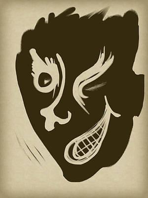 Cartoonish Digital Art - Wink by Russell Pierce