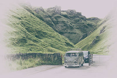 Winnats Pass Camper Art Print