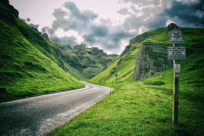 Mountain View Photograph - Winnats Pass by Martin Newman