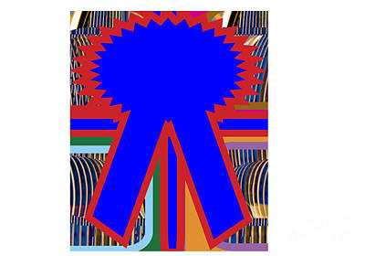 Urban Abstracts - Winner Blue Ribbon print on gifts Download Template by Navin Joshi