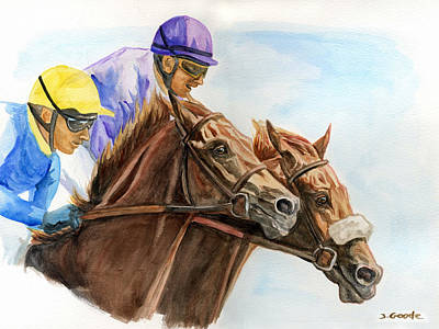 Fast Painting - Winner By Nose by Jana Goode