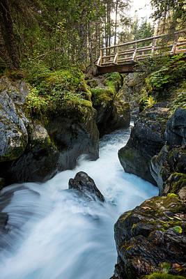 Photograph - Winner Creek Falls by Tim Newton