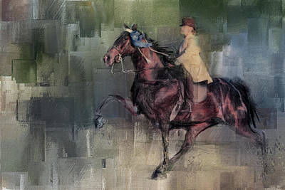 Painting - Winner Tennessee Walking Horse Art by Jai Johnson