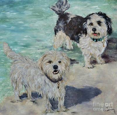 Pekingese Painting - Winnie And Edna Bea by Betsy Doody