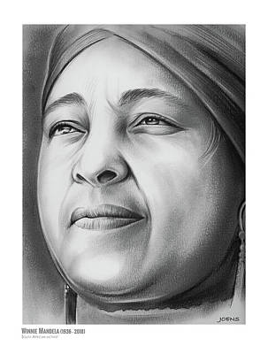 Drawing - Winnie Mandela by Greg Joens