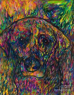 Drawing - Winnie The Dog by Jon Kittleson