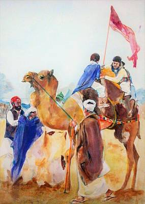 Painting - Winning Celebration by Khalid Saeed