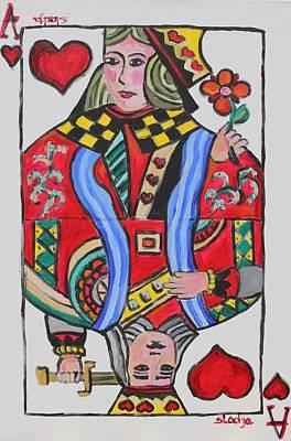Art Print featuring the painting Winning Love Card by Sladjana Lazarevic