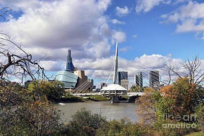 Photograph - Winnipeg Landmarks by Teresa Zieba