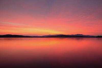 Photograph - Winnipesaukee Sunrise - Weirs Beach by Robert Clifford